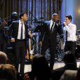 Seal, John Legend, Jamie Foxx et Nick Jonas lors du 52e anniversaire de la Motown à la Maison Blanche le 24 février 2011