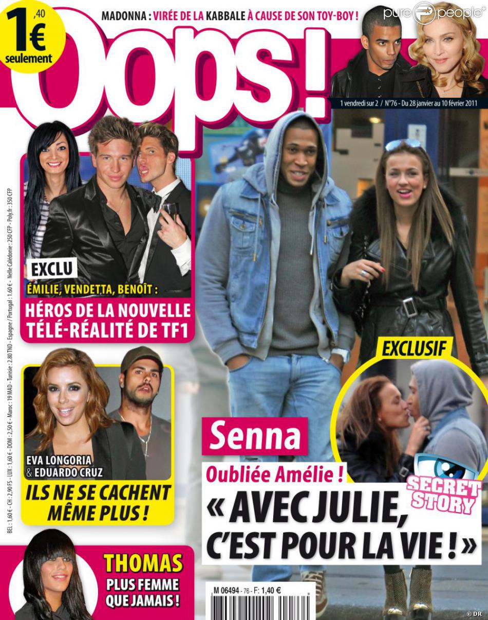 julie et senna de secret story 4 en couverture de oops