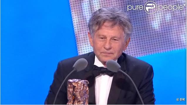 Roman Polanski est récompensé du prix du Meilleur réalisateur pour le film  The Ghost Writer , lors de la 36e nuit des César, vendredi 25 février 2011.