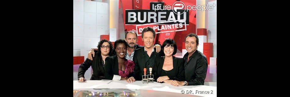 jean luc lemoine entour de sa bande de chroniqueurs sur bureau des plaintes france 2. Black Bedroom Furniture Sets. Home Design Ideas