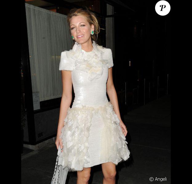 Blake Lively à son arrivée au dîner Chanel à New York le 2 mars 2011