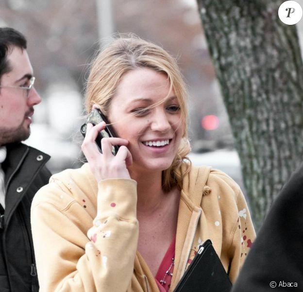 Blake Lively sur le tournage du dernier épisode de la saison de Gossip Girl, le 11 mars 2011