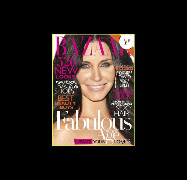 Courteney Cox en couverture d'Harper's Bazaar pour le mois d'avril 2011