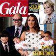 Céine Dion en famille en couverture de  Gala , numéro en kiosques le 16 mars 2011
