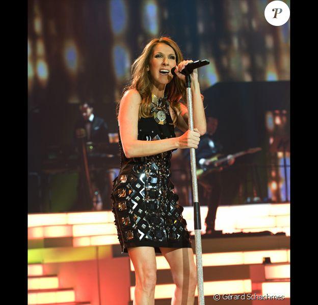 Céline Dion sur la scène du Colosseum de Las Vegas, le 15 mars 2011