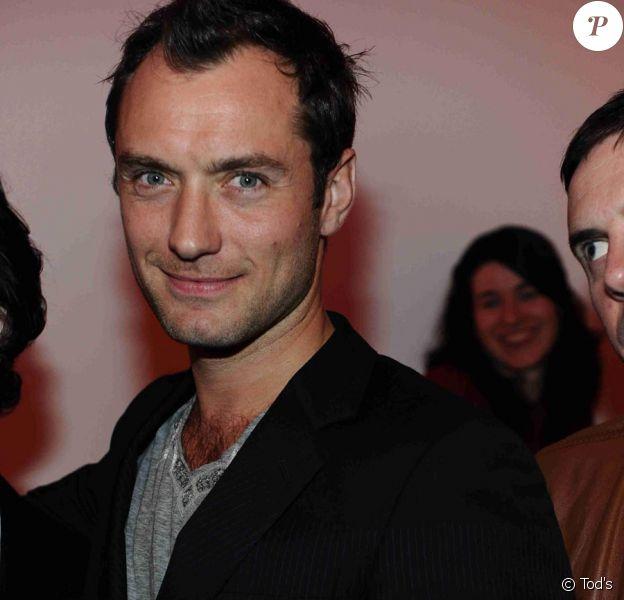 Jude Law à la Tod's Art Plus Drama Party, le 24 mars à la Whitechapel Gallery de Londres