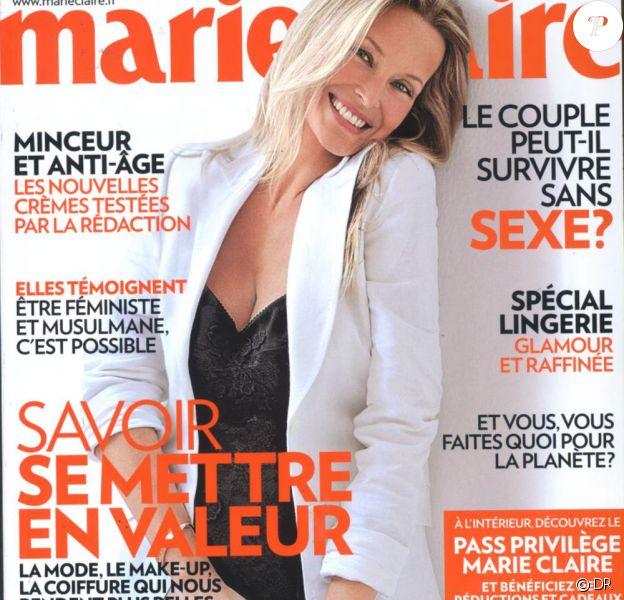Estelle Lefébure en couverture de Marie Claire.