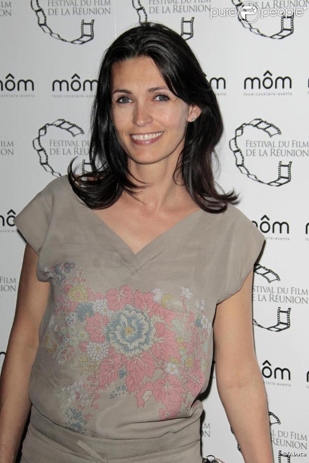 La future maman Adeline Blondieau lors de la 7 édition du Festival de la Réunion le 7 avril 2011 à Paris