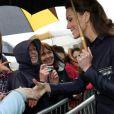 Le prince William et Kate Middleton étaient en visite dans la région de Blackburn with Darwen, dans le nord de l'Angleterre, lundi 11 avril 2011. Leur dernière apparition officielle avant leur mariage, le 29 avril.