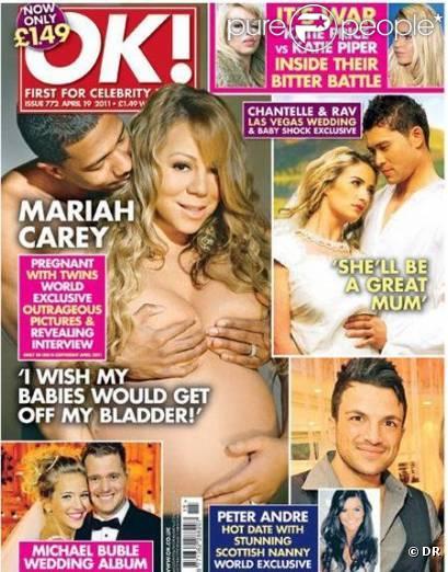 Mariah Carey et Nick Cannon en couverture du magazine OK !