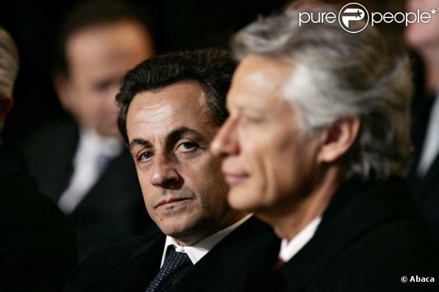 Nicolas Sarkozy et Dominique de Villepin à Paris, le 18 janvier 2007.
