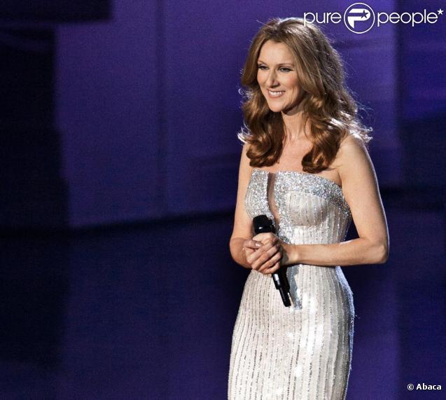 Céline Dion, sur la scène du Caesars Palace, à Las Vegas, le 15 mars 2011.