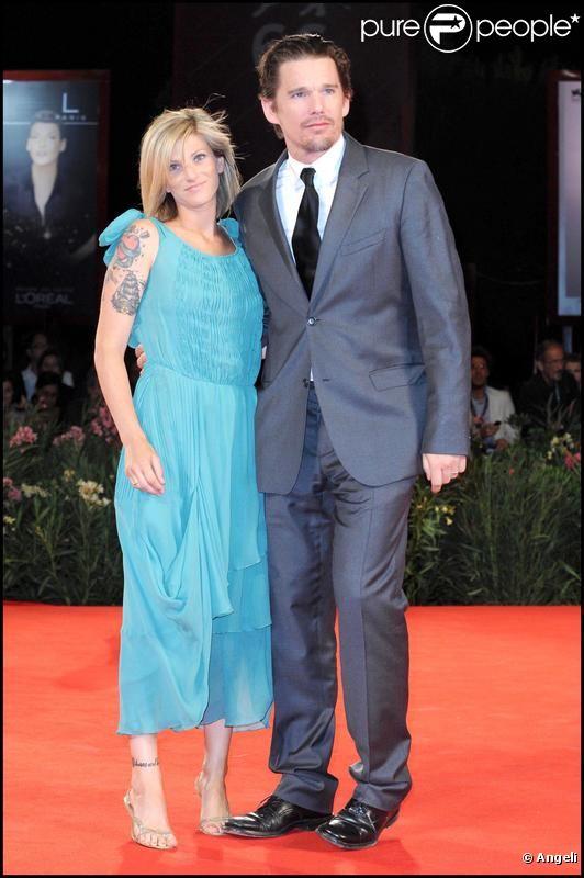 Ethan Hawke et sa femme Ryan Shawhughes en 2009