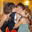 Inès de la Fressange et ses adorables filles Nine et Violet lors de la remise de la légion d'honneur en 2008
