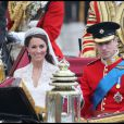 Kate et William, le jour de leur mariage à Londres le 29 avril 2011.