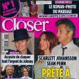 Couverture du magazine Closer en kiosques le 7 mai 2011.