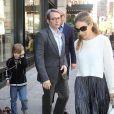 Sarah Jessica Parker et son mari Matthew Broderick en compagnie de leur fils James passent l'après-midi ensemble à l'occasion de la Fête des mères à New York le 8 mai 2011
