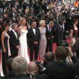 Montée des marches du Palais des Festivals pour le film Minuit à Paris de Woody Allen, le 11 mai 2011 à Cannes