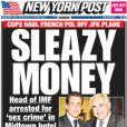 Le New York Post fait sa une du samedi 14 mai sur l'affaire DSK.