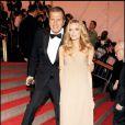Mario Testino et Lily Donaldson à la soirée du MET à New York, le 5/05/08