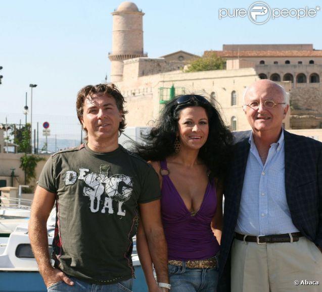 Roberto Alagna et son épouse Angela Gheorghiu, avec Vladimir Cosma, en 2007.