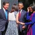 Barack et Michelle Obama et le couple Cameron, à Londres, le 24 mai 2011.