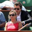 Anne-Sophie Lapix assiste à un match de Roland-Garros à Paris, le samedi 28 mai 2011.