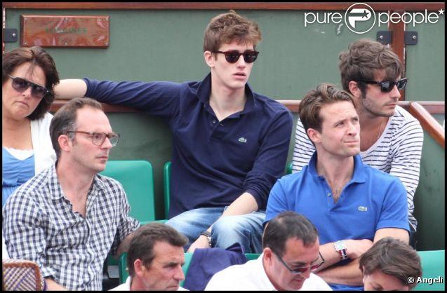 Jean-Baptiste Maunier et Louis-Marie de Castelbajac lors de la neuvième journée des internationaux de tennis de Roland Garros 2011 le 30 mai 2011