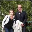 Karl Zéro et son épouse Daisy au tournoi de Roland-Garros, le 31 mai 2011.