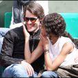 Sonia Rolland et Jalil Lespert au tournoi de Roland-Garros, le 31 mai 2011.