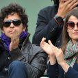 Marie Gillain et Christophe Degli Esposti au tournoi de Roland-Garros, le 31 mai 2011.
