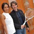 Jalil Lespert et Sonia Rolland au tournoi de Roland-Garros, le 31 mai 2011.