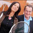 Jean-Pierre Pernaut et sa femme Nathalie Marquay, à Roland-Garros, le 28 mai 2011.