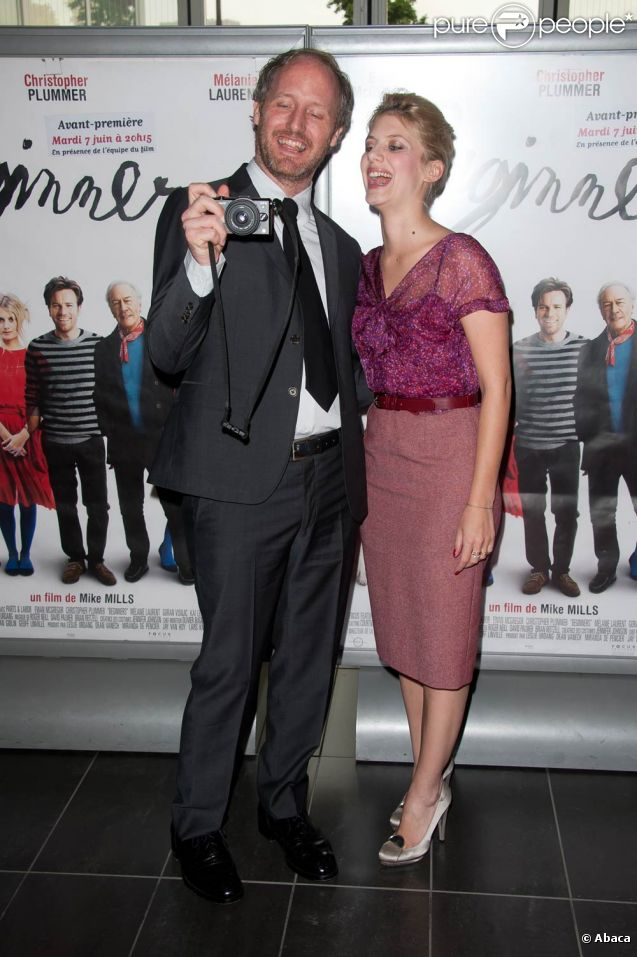 Mélanie Laurent et Mike Mills présentent Beginners au cinéma MK2 Bibliothèque, à Paris, le 7 juin 2011.