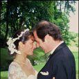 Michel Delpech et Geneviève le jour de leur mariage, le 24 juillet 1985.