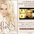 Britney Spears donnera trois concerts en France en octobre 2011.
