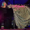 Lady Gaga se produit au Circus Maximus à Rome (Italie), à l'occasion de l'Europride, marche des fiertés homosexuelles, bi, lesbiennes et transgenres.