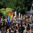 400 000 personnes environ étaient réunies, samedi 11 juin 2011 à Rome, pour l'Europride, afin de revendiquer les droits de la communauté homosexuelle.