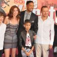 Dany Boon, sa femme, Will Smith, Jada Pinkett et leur fille Willow Smith à Paris le 25 juillet 2010