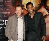 Dany Boon et Will Smith le 16 juin 2008 à Paris