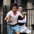 Sacha Baron Cohen en plein tournage du film The Dictator, à New York le 14 juin 2011