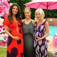 Tori Spelling, enceinte avec Denise Richards et Ali Landry lors de la fête d'anniversaire spéciale Hello Kitty pour les trois ans de sa fille Stella à Los Angeles, le 11 juin 2011.