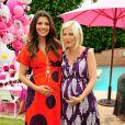 Tori Spelling et Ali Landry, toutes les deux enceintes, lors de l'incroyable fête d'anniversaire spéciale Hello Kitty pour les trois ans de la fille de Tori, Stella. A Los Angeles, le 11 juin 2011.
