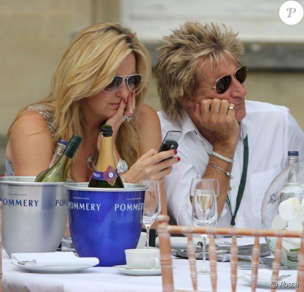 Rod Stewart et son épouse Penny Lancaster à la 6e édition de Salon Privé le 6 juin à Syon Park à Londres