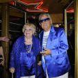 Perrette Souplex et Michou lors du 75e anniversaire de la célèbre boîte de nuit le Balajo à Paris le 27 juin 2011