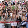 Le prince William et Kate, duchesse de Cambridge avaient également des fans, à Montréal le 2 juillet 2011