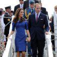 Le prince William et son épouse Catherine arrivent à Québec, le 3 juillet 2011.