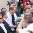Le prince William et sa femme Kate arrivent à Lévis, au Canada. Le 3 juillet 2011