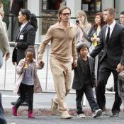 Brad Pitt et ses fils : Explosions et zombies font le bonheur de ses garçons