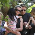 Johnny Hallyday entouré des siens à Los Angeles en juin 2011